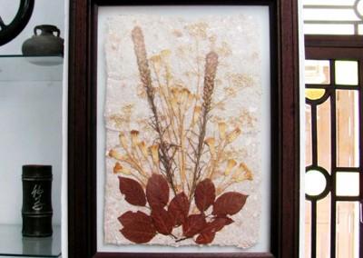 Cuadro con flores secas