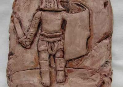 Gladiador en terracota