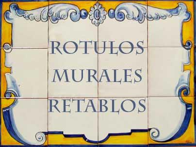 Rótulos, murales y retablos